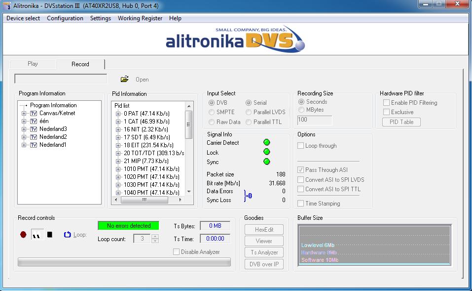 Alitronika AT4USB The ApsiPod DVB-ASI player and recorder